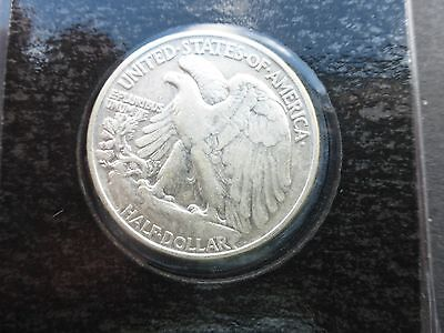 United States silver Half Dollar coin Walking Liberty 1944 with C.O.A
