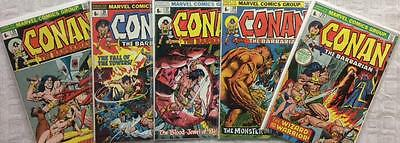 Conan the Barbarian #25,26,27,28 & 29 (1973 Marvel 1st series) High Grade.