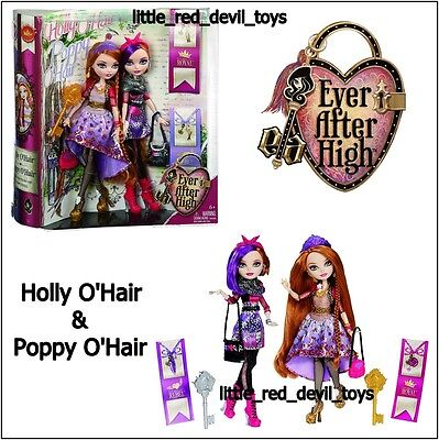 NEW Ever After High Royal & Rebel HOLLY and POPPY O'HAIR Sisters Dolls Twin Pack