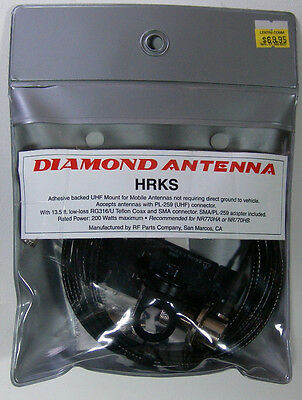Diamond HRKS Adhesive Mount for Antennas with UHF base  FREE Priority Mail