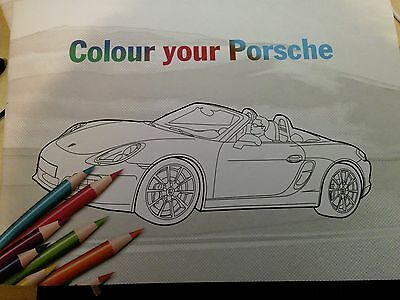 PORSCHE  colouring book 10  A4 pages