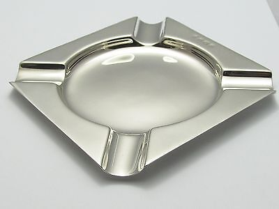 Heavy Quality Solid Sterling Silver Antique Ashtray Cigar Ash Tray
