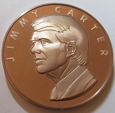 Jimmy Carter 1977 Inaugural Medal 70mm Bronze Proof US Mint