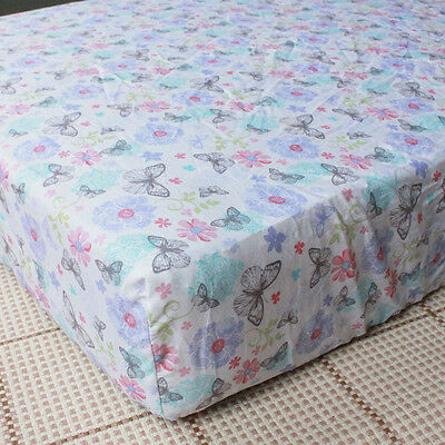 100% Cotton Baby Boys & Girls Crib Cot Bed Fitted Sheet