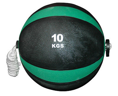 CoreX Fitness Weightlifting Training Rope Medicine Ball - 10KG