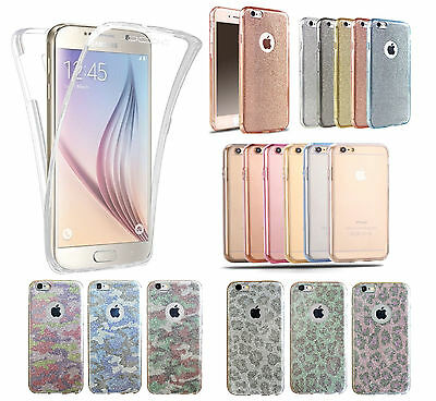Shockproof 360° Silicone Protective Clear Phone Case Cover For iPhone & Samsung