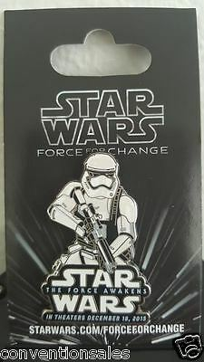 New! Disney Star Wars Force For Change The Force Awakens Stormtrooper Pin