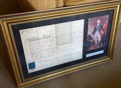 King William IV, 1830-37. Signed Military Document. Royal Artillery, 1835