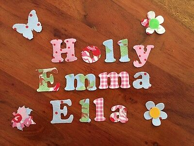 Any 10 Die Cut Iron On Glue On Fabric Names  Cath Kidston Ikea, Personalised