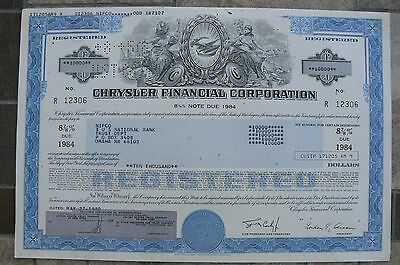 (2) TWO Chrysler FC Auto Stock Certificates! High Denominations! Very Nice!!