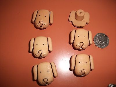 childrens dog drawer handles x 6