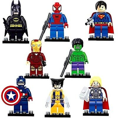 2016 Marvel Dc 8Pc Avengers Super Hero New Mini Figs Set Fits Lego Mini Figures