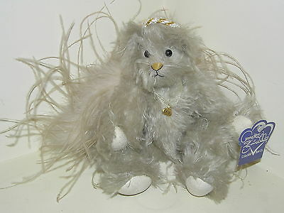 ANNETTE FUNICELLO COLLECTIBLE MOHAIR BEAR Co ANGEL JOINTED TEDDY FEATHER WINGS