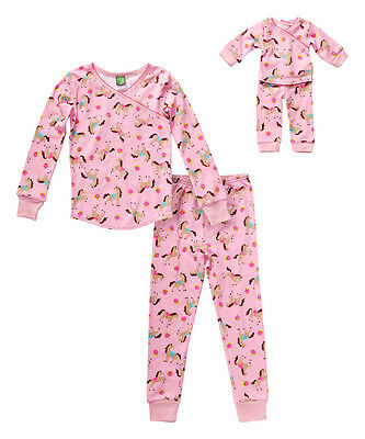 "Dollie Me Girl 2-14 and 18"" Doll Matching Horse Pajamas Outfit American Girl"