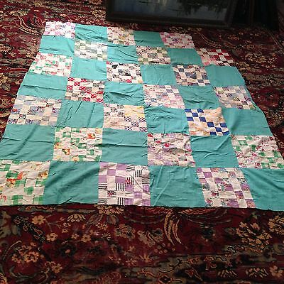 Vintage 30 Patch Quilt Top
