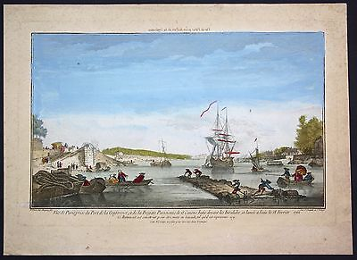 1770 Paris view vue Guckkastenblatt optical view gravure Kupferstich Schiff