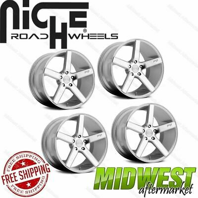 Niche Milan Silver w/Machined Face 20x8.5 5x114.3 +35 Offset Set of 4