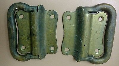 Lot of 2 Antique Brass Handles Tool Box Carpenter Chest 4""