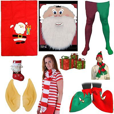 Christmas Accessories Knitted Xmas Red Green Novelty Festive Tights Socks Scarf