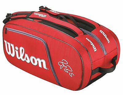 *NEW* WILSON FEDERER ELITE 12 pack tennis bag - Authorized seller