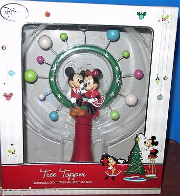 Mickey & Minnie Mouse Disney Store Tree Topper NEW