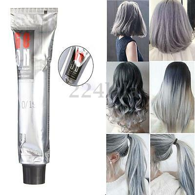Unisex Fashion Punk Style Grannyhair Permanent Light Gray Hair Dye Cream 100ml