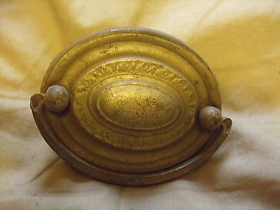Vintage Brass Oval Drawer Pull