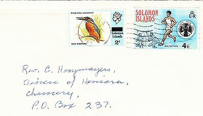 SOLOMON ISLANDS cover addressed to Honiara