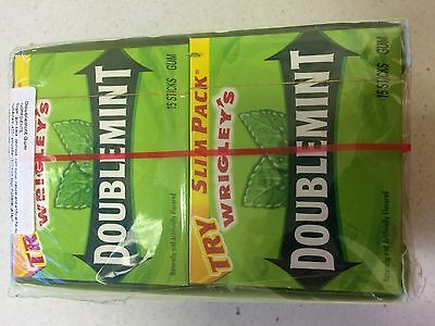 Wrigley's US DOUBLEMINT Chewing Gum - 10 Packs Bulk Lollies