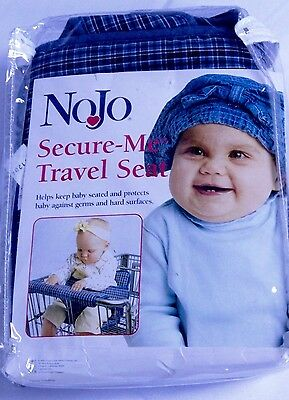 NEW NoJo Blue Plaid Secure Me Travel Seat Shopping Cart Cover Free Shipping