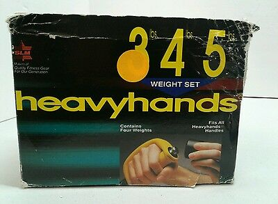 AMF Heavy Hands 3 Pounds Aerobic Weights Set Of Four Weights Made In Austria