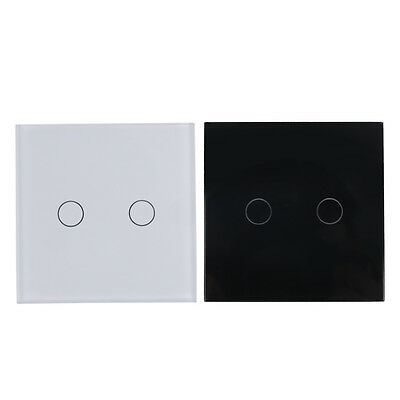 Smart Capacitive 2 Way Touch Control Wall Panel Light Switch LED Backlight P6