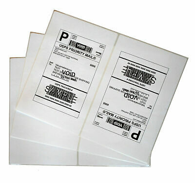 200 - 1000 Half Sheet Shipping Label 8.5 x 5.5 Round Corner Self Adhensive - UPS