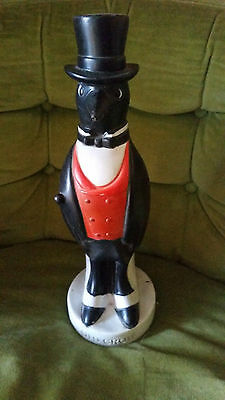 Old Crow Advertising Whiskey Hard Rubber Store Display Figure