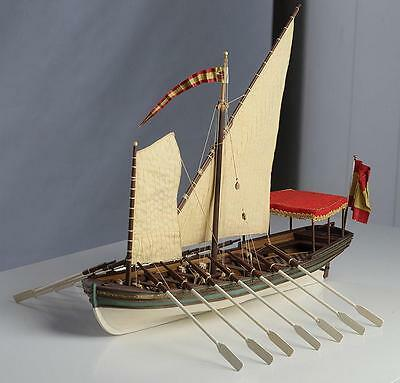 "Exquisite, New Wooden Model Ship Kit by Disar: the ""Salvador Del Mundo Felucca"""
