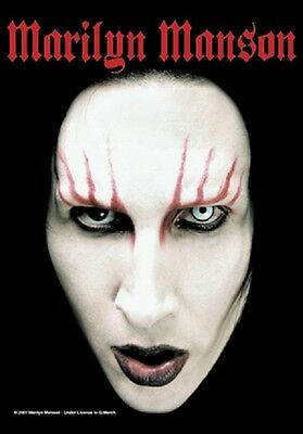Marilyn Manson Head Shot Music  Flags Wall Hanger Made In Italy L 315