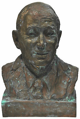 BUST OF KERRY PACKER c1975 by DRAGO CHERINA signed by artist