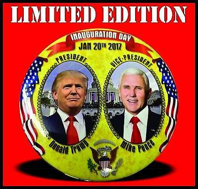 """10 Trump / Pence Inauguration 3"""" Buttons 2017 Political Trump Buttons Fast Ship!"""