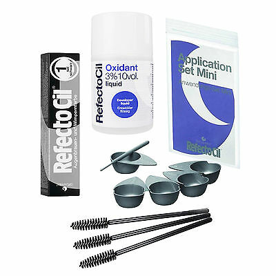 REFECTOCIL Application Set + Full Size Eyebrow Eyelash Tint + Liquid Oxidant KIT