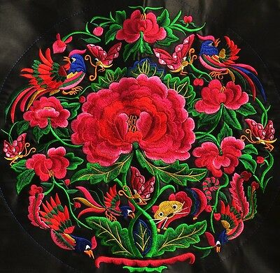 """Nice 14"""" Chinese tribal miao hmong machinemade round embroidery Peace 36CM"""