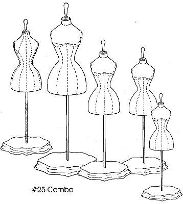 Victorian Doll Dress Form Sewing Pattern with 5 Sizes 25Combo