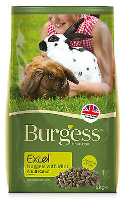 Burgess Excel Adult Rabbit Nuggets With Mint 2kg Small Animal