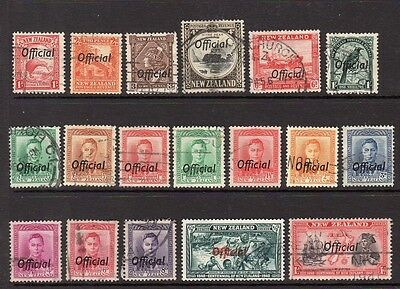 New Zealand - 1936-1940 - Officials - used collection