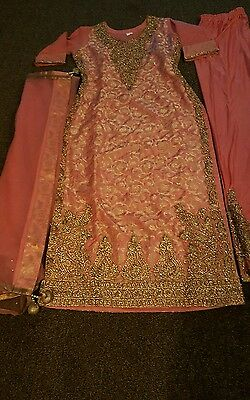 size 10 small pakistani designer suit stitched readymade wedding kameez