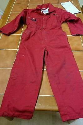 Dickies Kids Use Red colour boiler suit.