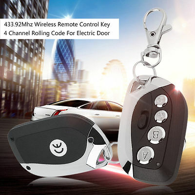 433.92Mhz Wireless Remote Control Key 4 Channel Rolling Code For Electric Door#W