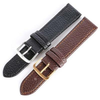 Men Leather Replacement Wristwatch Band Black/Coffee Genuine 12-22MM Watch Strap
