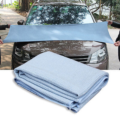 New High Quality Car Drying Towel Blue Waffle Weave Microfibre 60 x 80cm W#