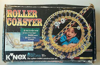 K'nex Roller Coaster 63030  with Box Instructions and MOTOR