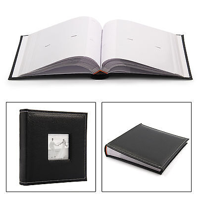 "Large Black Vintage 6"" x 4'' 200 Photos Slip in Photo Album with Memo Area"